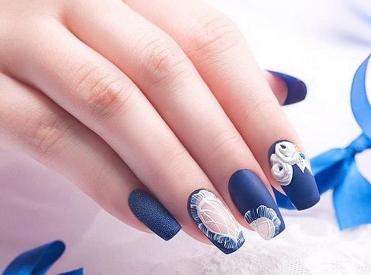 Синий Маникюр Для Невесты