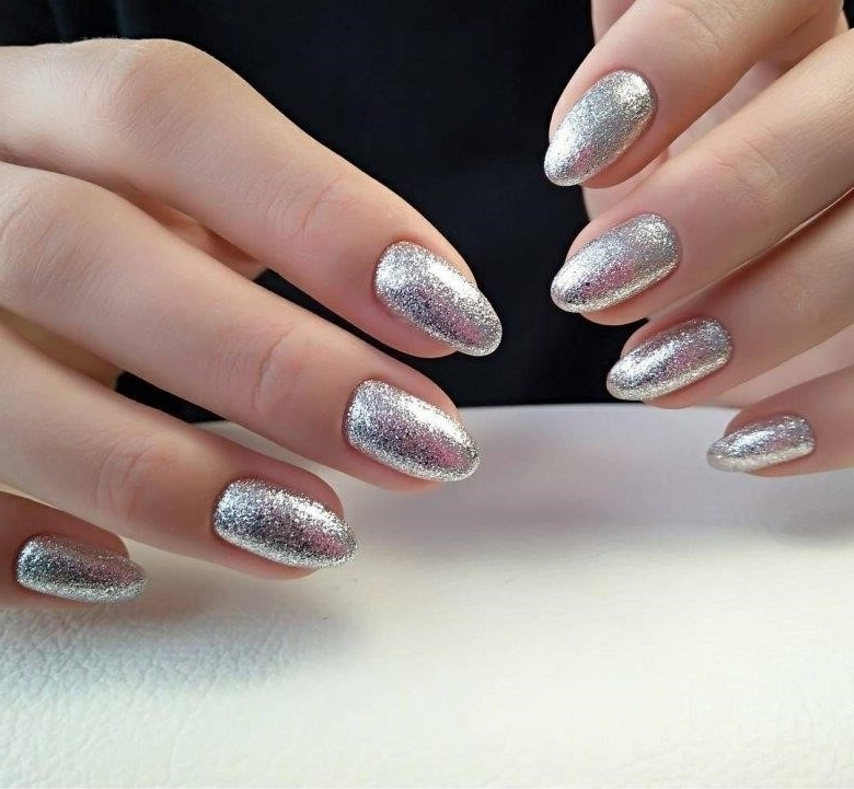 Ногти Дизайн Новинки Серебро