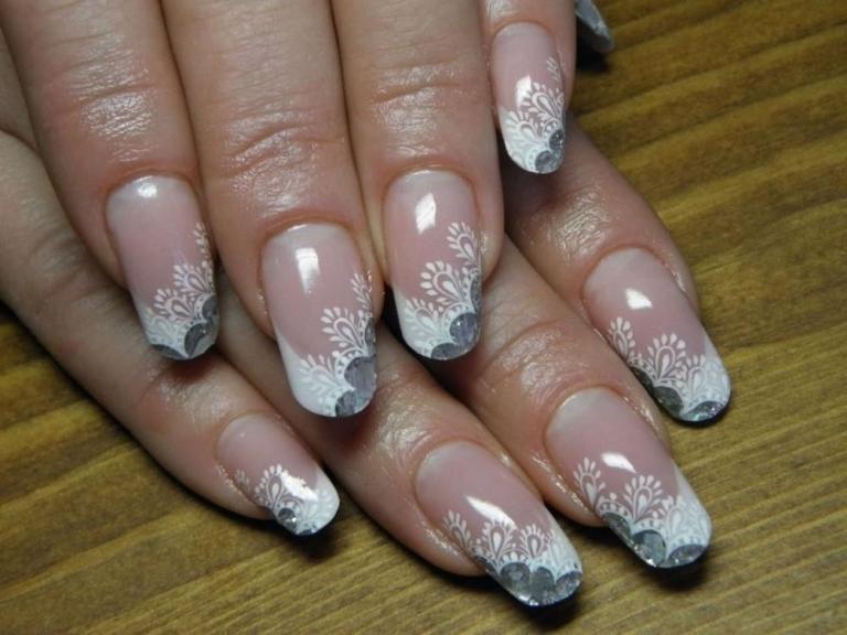 дизайн ногтей френч кружево фото пошагово работы марта начала