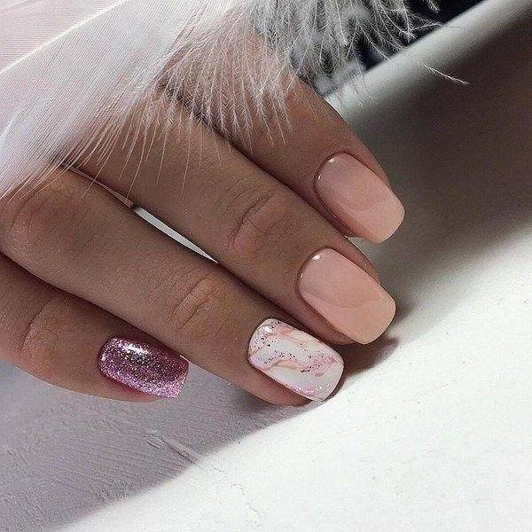 Ногти Дизайн Новинки 2020 Светлые Короткие Нежные