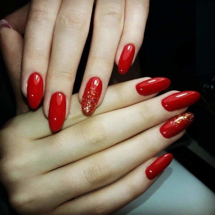 Маникюр С Ярко Красным Цветом