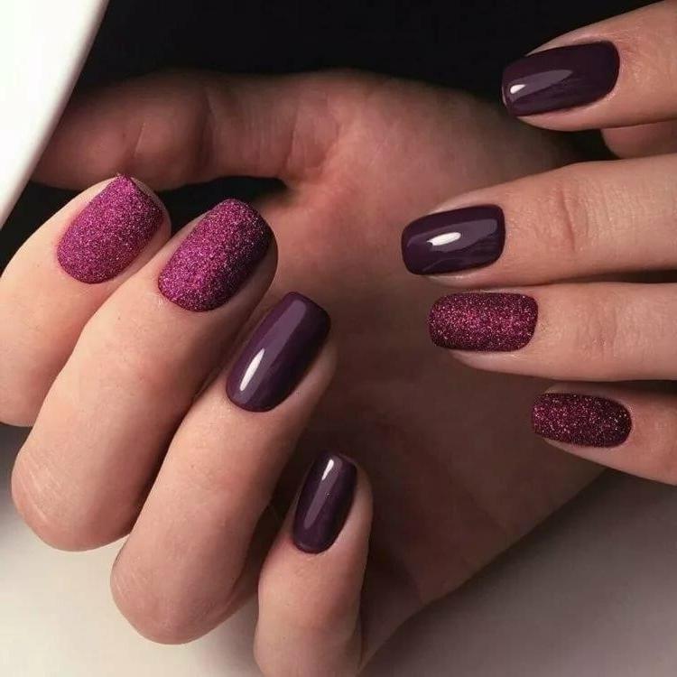 Черничные ногти дизайн фото добавлении