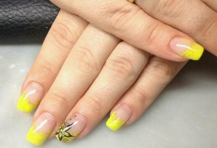 Маникюр Желтый Цвет Френч