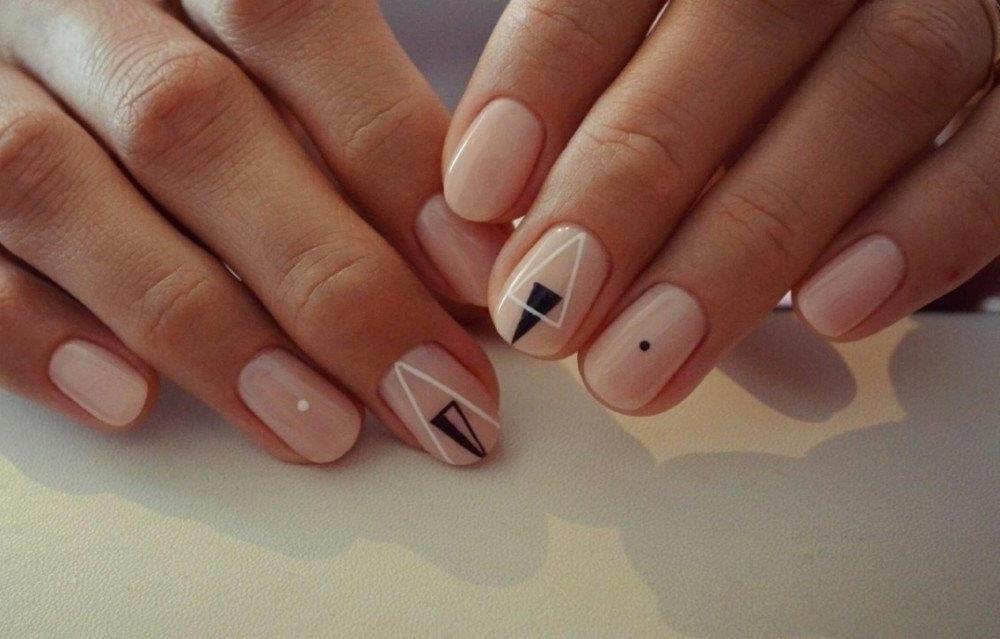 Дизайн На Короткие Ногти Бежевые Тона